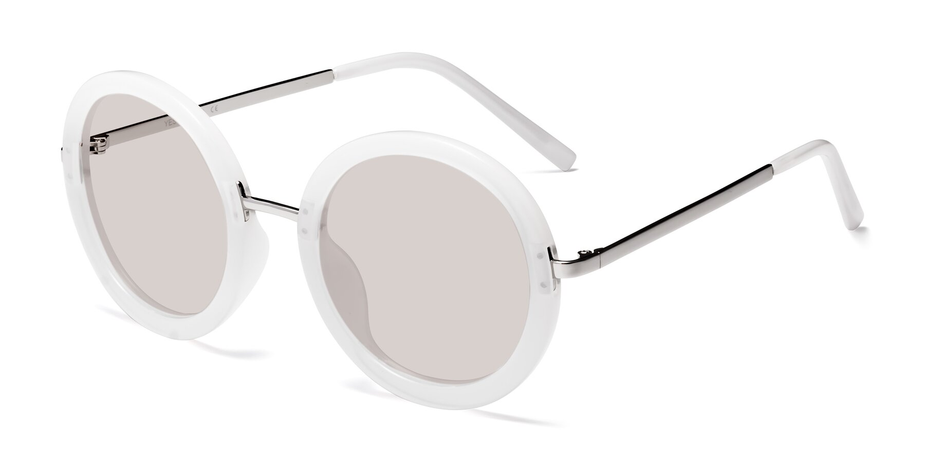 Angle of Bloom in Transparent Glacier Grey with Light Brown Tinted Lenses
