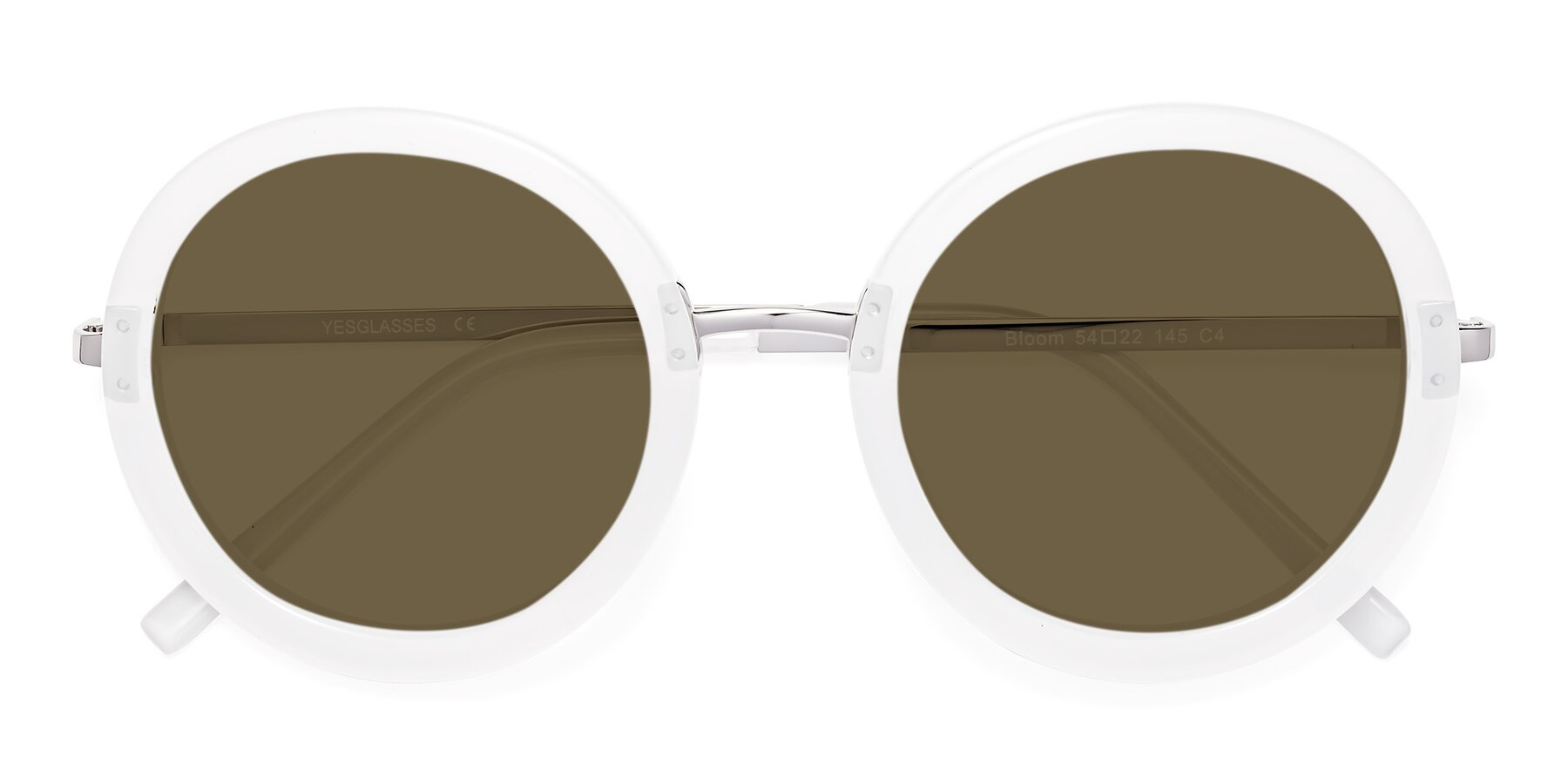 Folded Front of Bloom in Transparent Glacier Grey with Brown Polarized Lenses