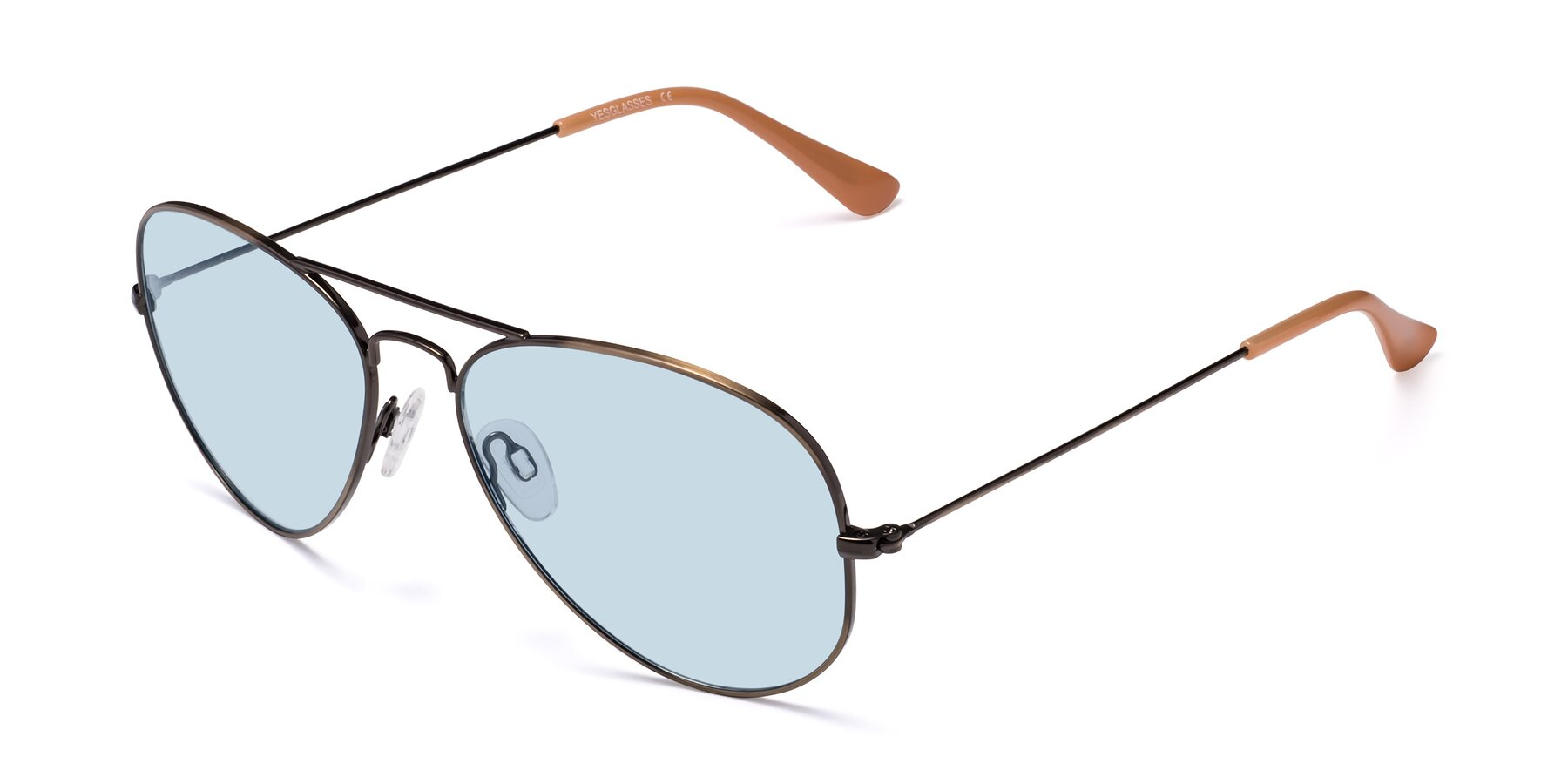 Angle of Yesterday in Antique Bronze with Light Blue Tinted Lenses