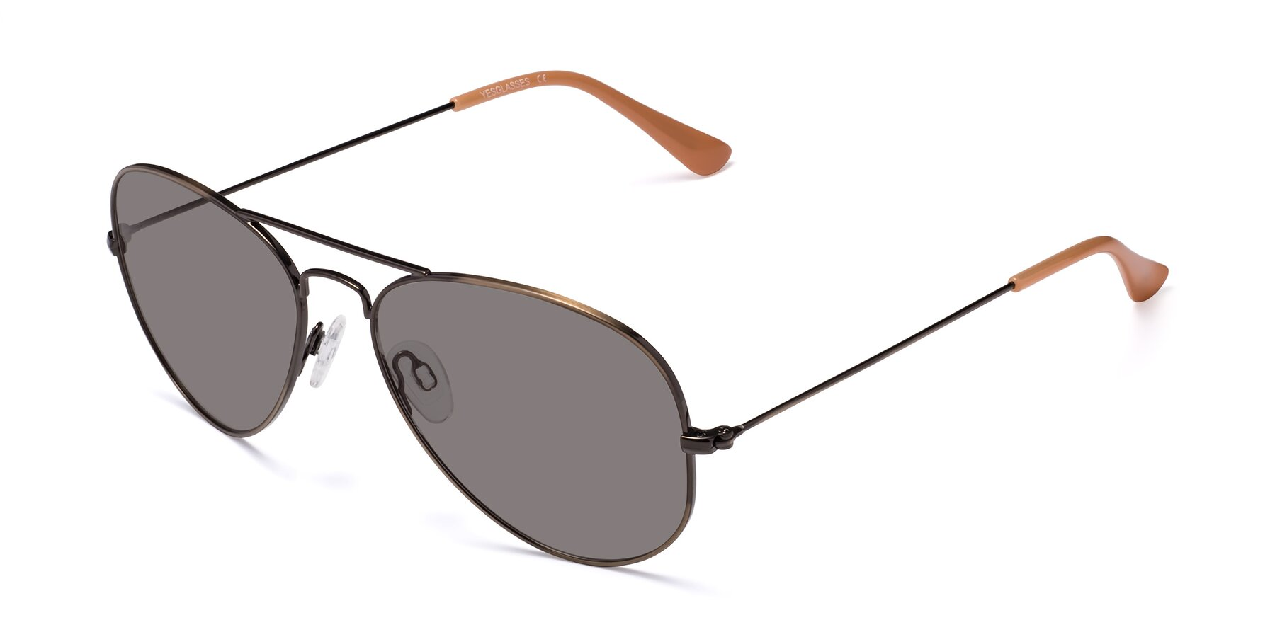Angle of Yesterday in Antique Bronze with Medium Gray Tinted Lenses