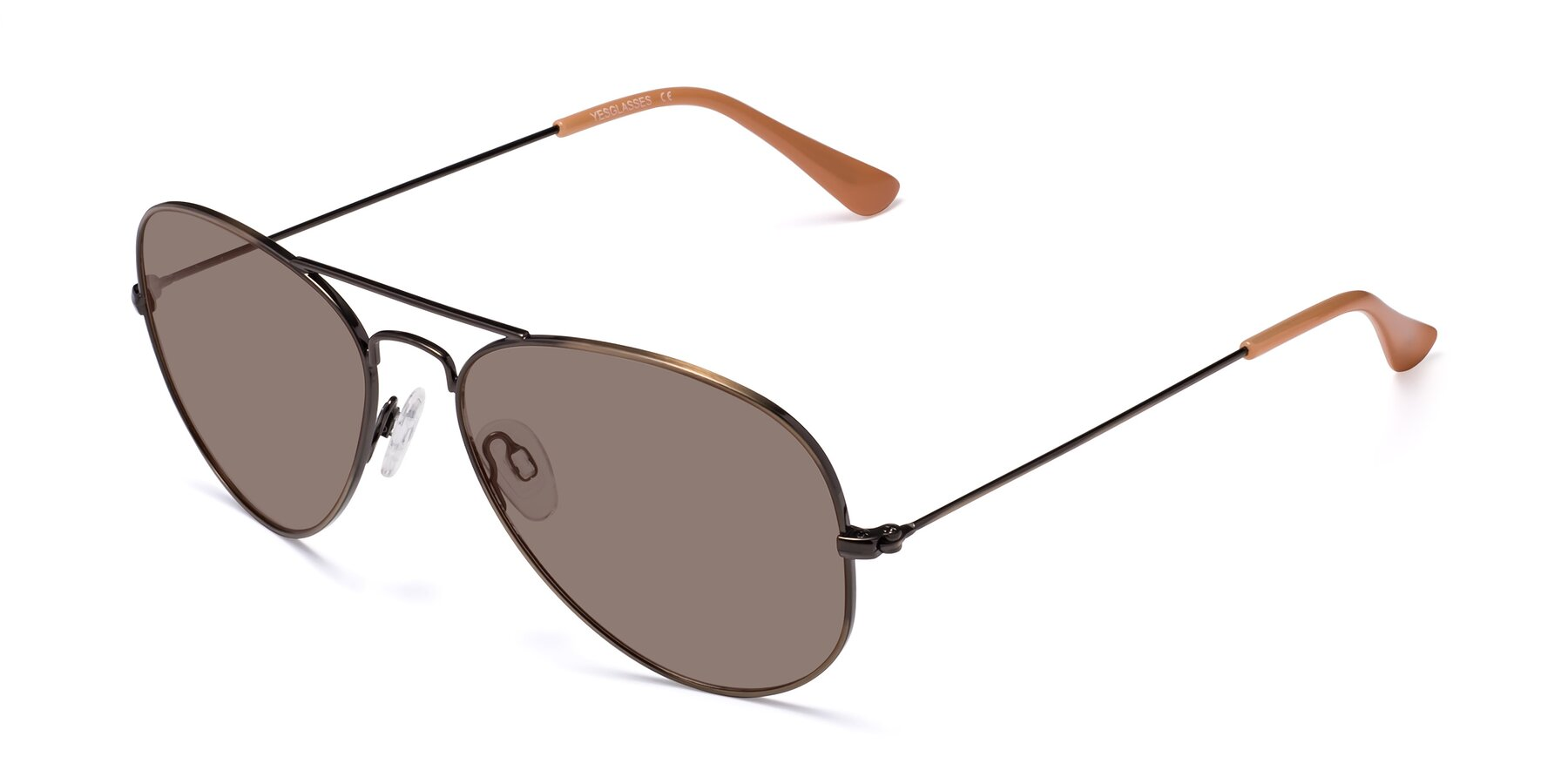 Angle of Yesterday in Antique Bronze with Medium Brown Tinted Lenses