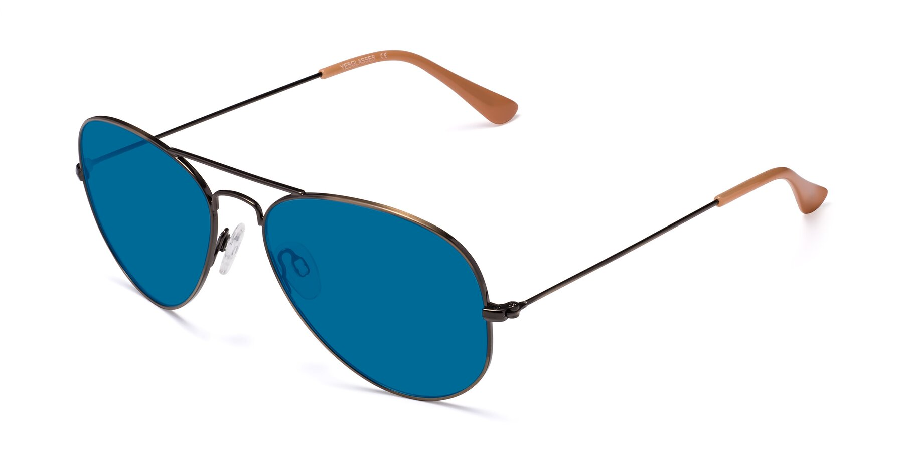 Angle of Yesterday in Antique Bronze with Blue Tinted Lenses