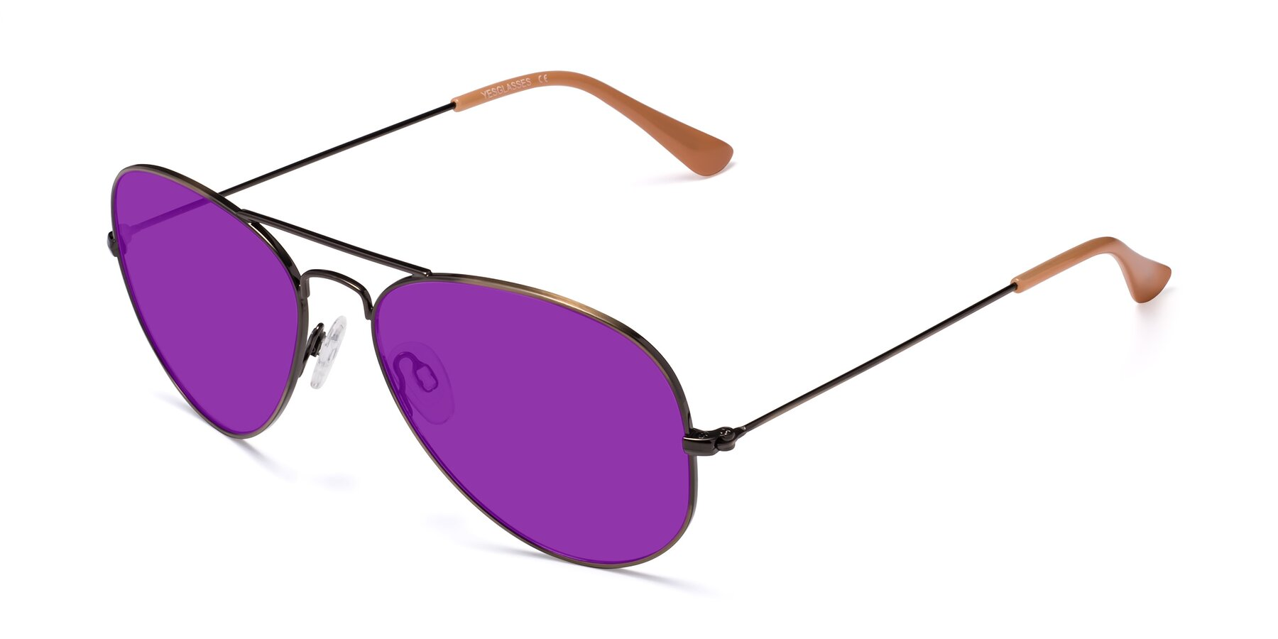 Angle of Yesterday in Antique Bronze with Purple Tinted Lenses