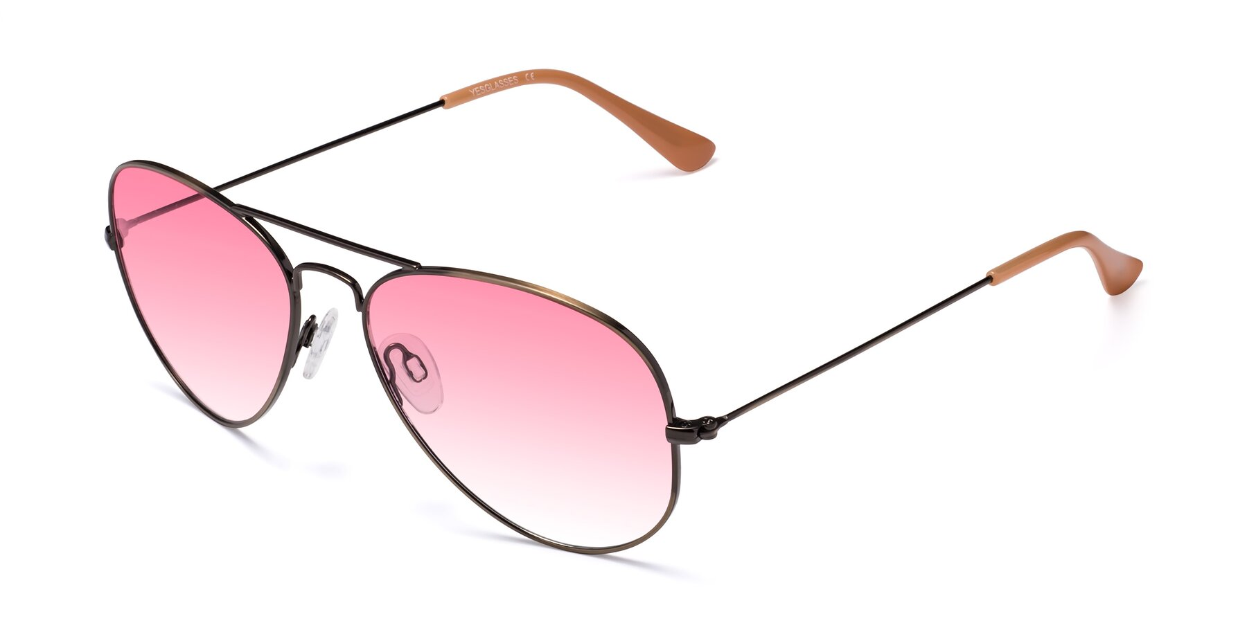 Angle of Yesterday in Antique Bronze with Pink Gradient Lenses