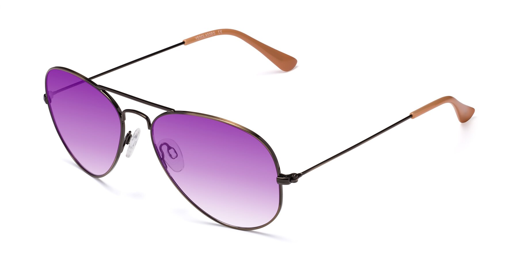 Angle of Yesterday in Antique Bronze with Purple Gradient Lenses