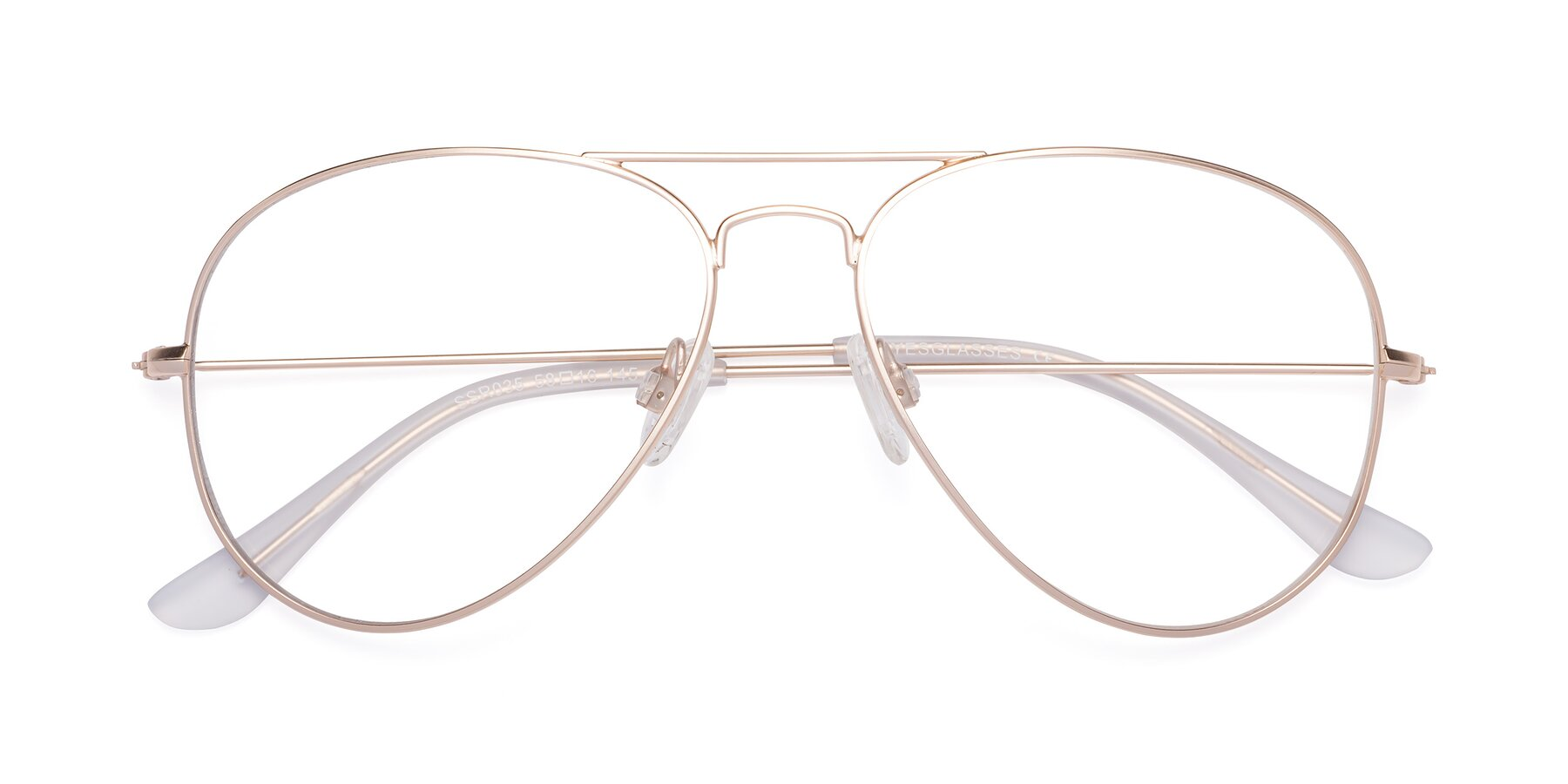 Folded Front of Yesterday in Jet Gold with Clear Blue Light Blocking Lenses
