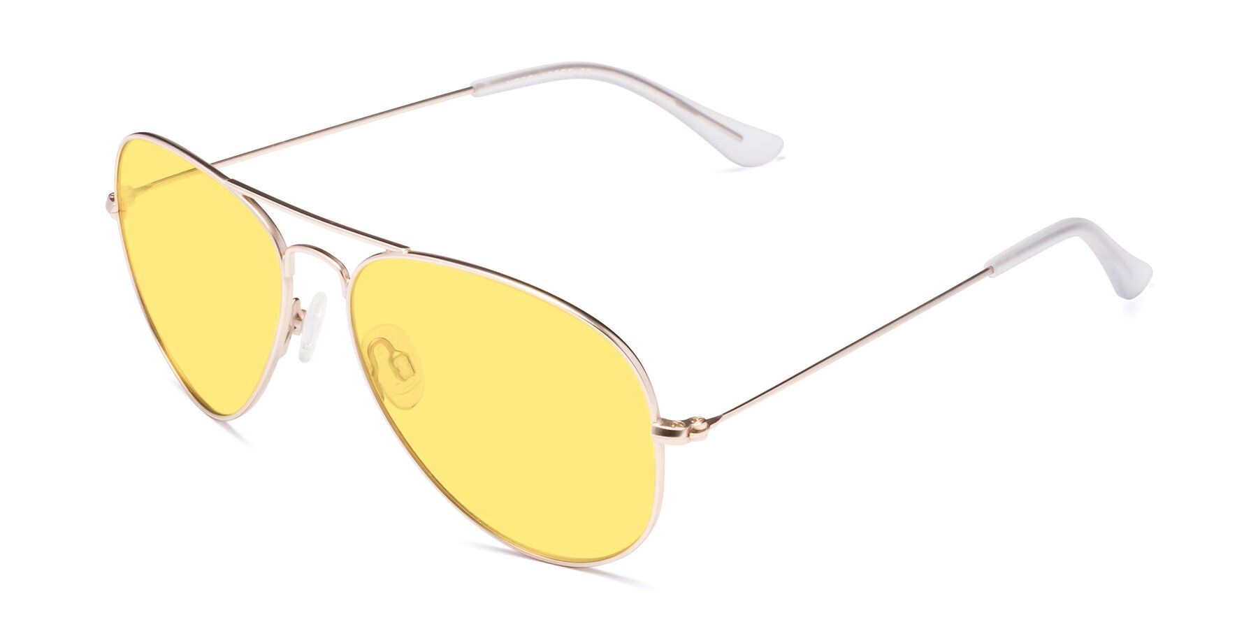 Angle of SSR035 in Jet Gold with Medium Yellow Tinted Lenses