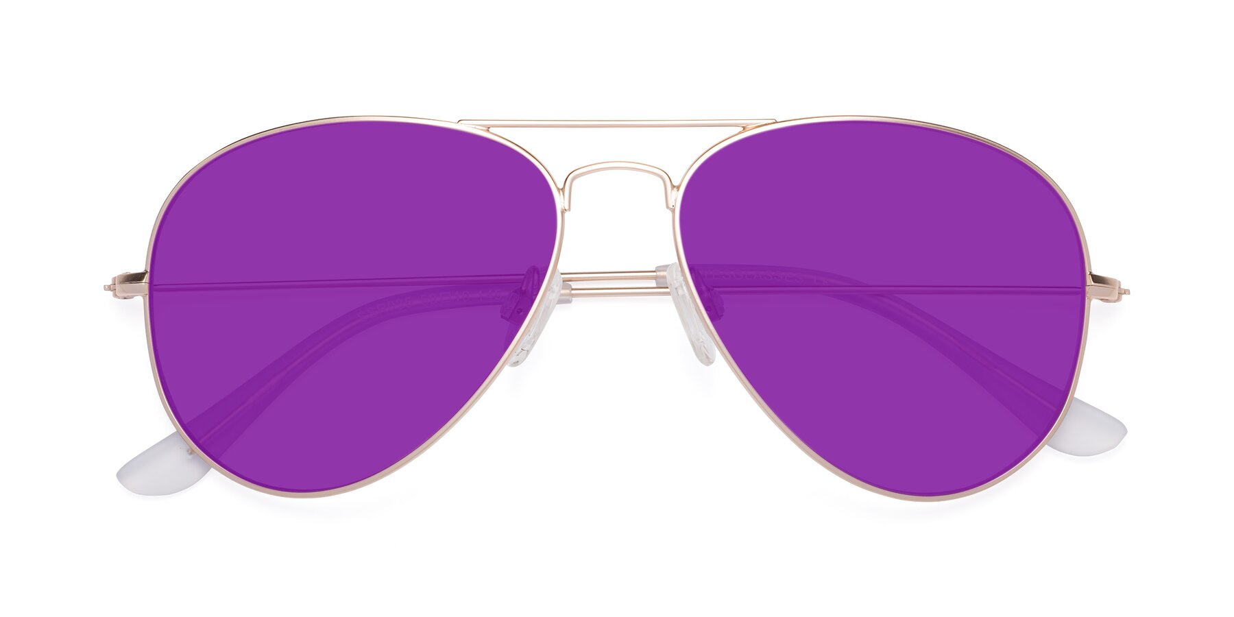 Folded Front of Yesterday in Jet Gold with Purple Tinted Lenses