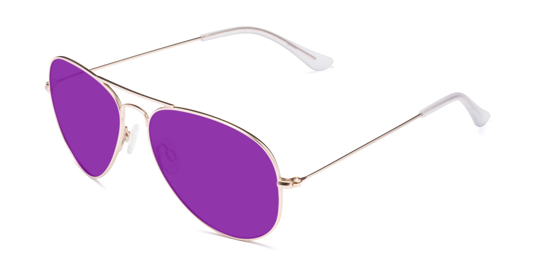 Angle of Yesterday in Jet Gold with Purple Tinted Lenses