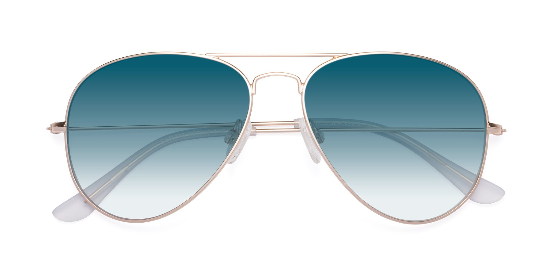 Folded Front of Yesterday in Jet Gold with Blue Gradient Lenses