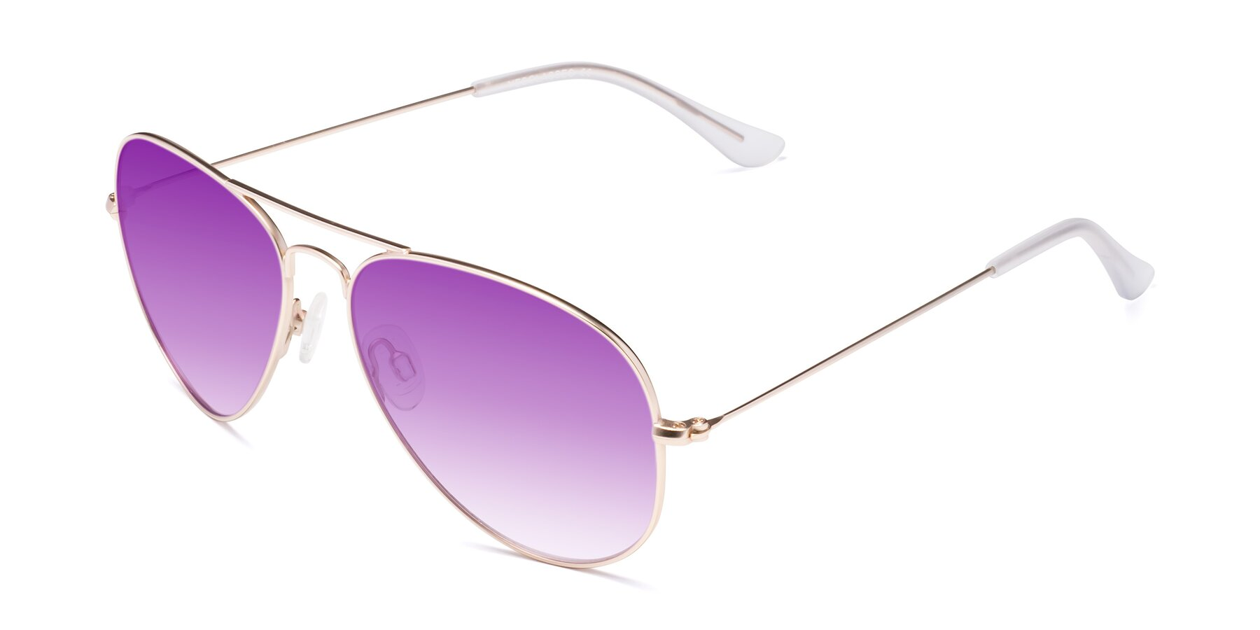 Angle of Yesterday in Jet Gold with Purple Gradient Lenses