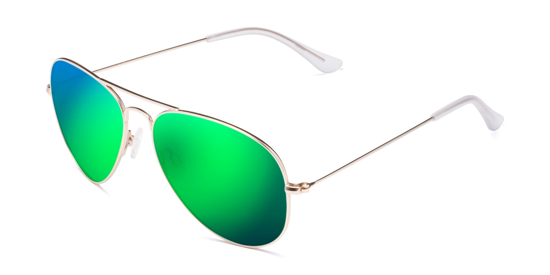 Angle of Yesterday in Jet Gold with Green Mirrored Lenses