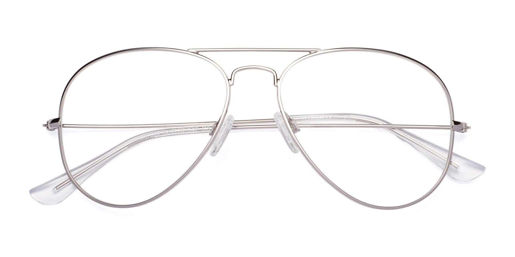 Folded Front of Yesterday in Silver with Clear Eyeglass Lenses
