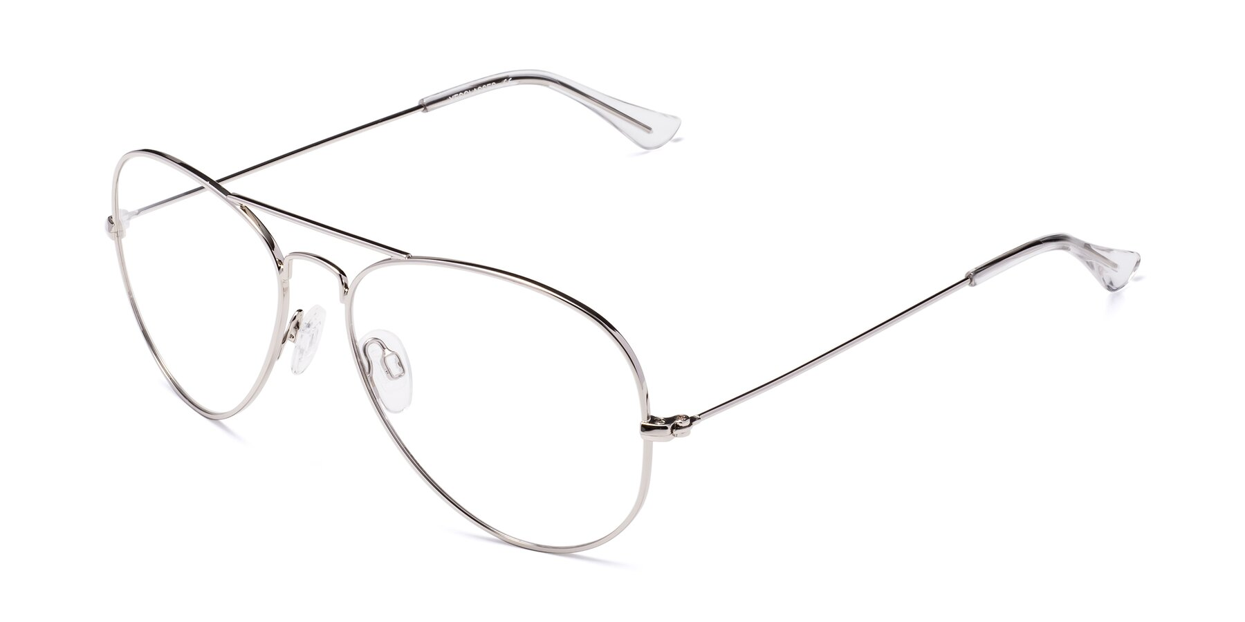 Angle of Yesterday in Silver with Clear Eyeglass Lenses