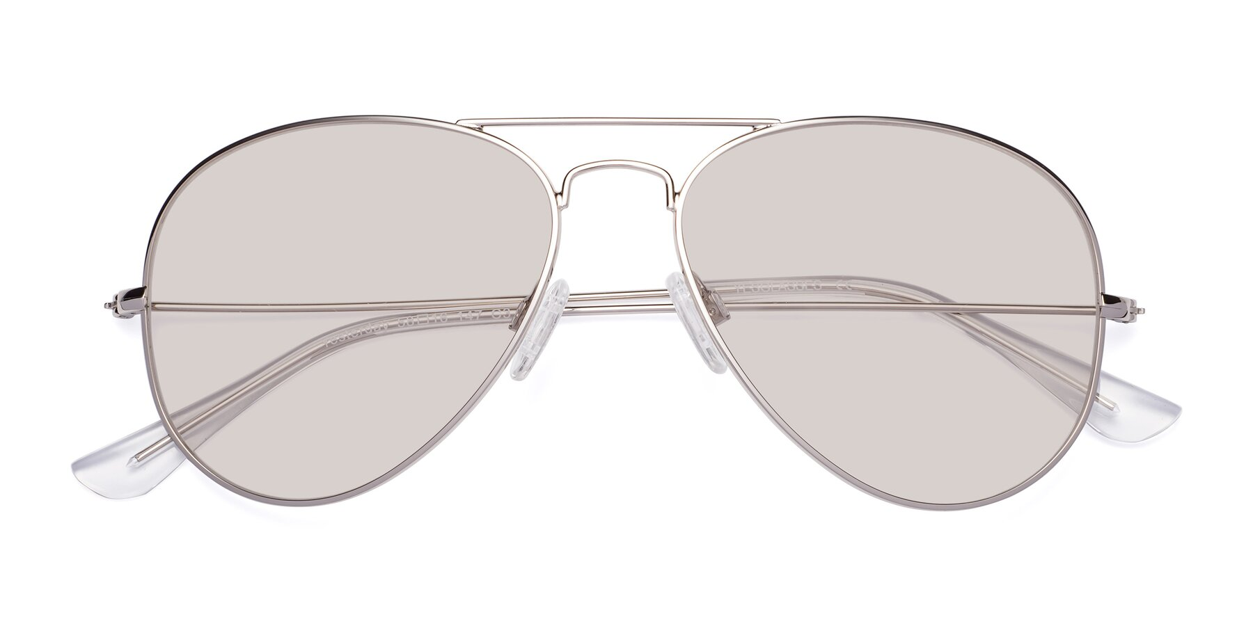 Folded Front of Yesterday in Silver with Light Brown Tinted Lenses