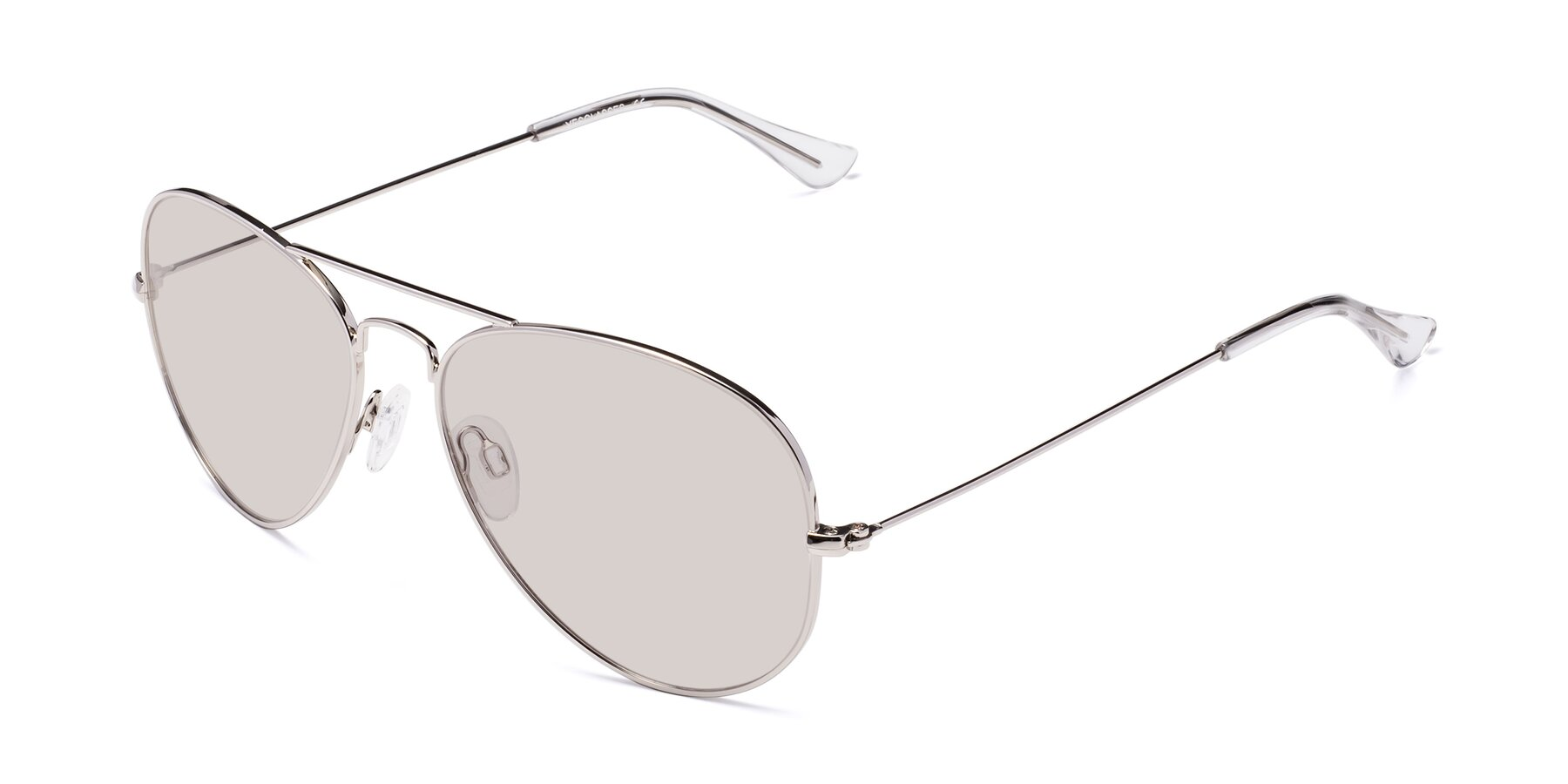 Angle of Yesterday in Silver with Light Brown Tinted Lenses