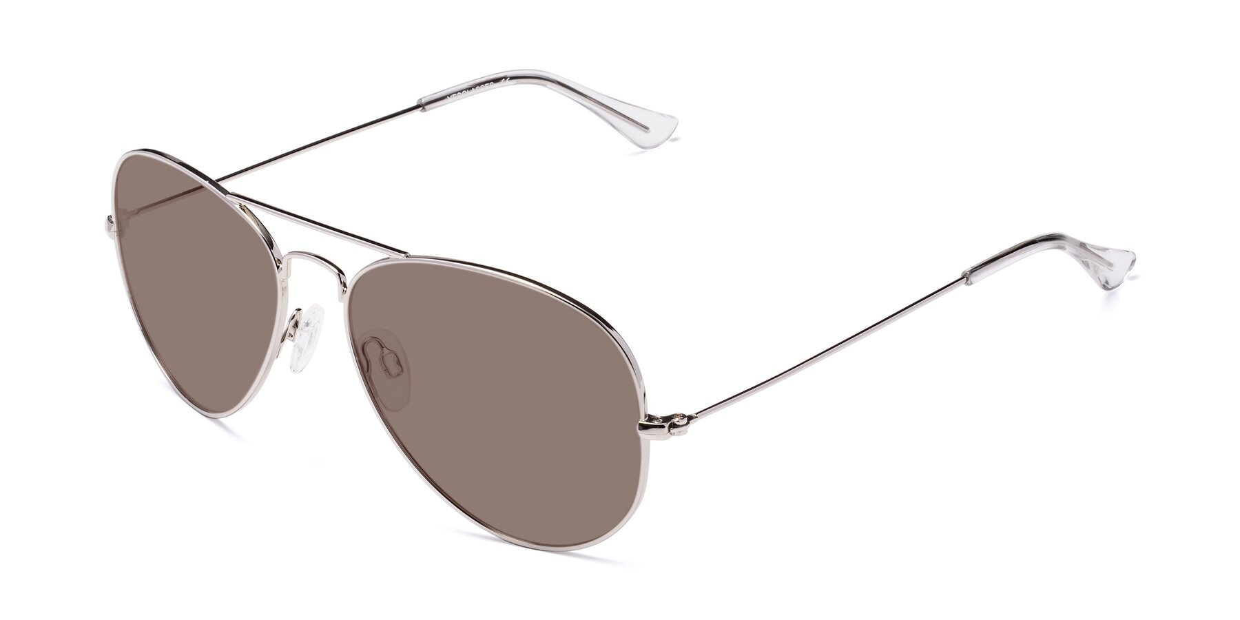 Angle of Yesterday in Silver with Medium Brown Tinted Lenses