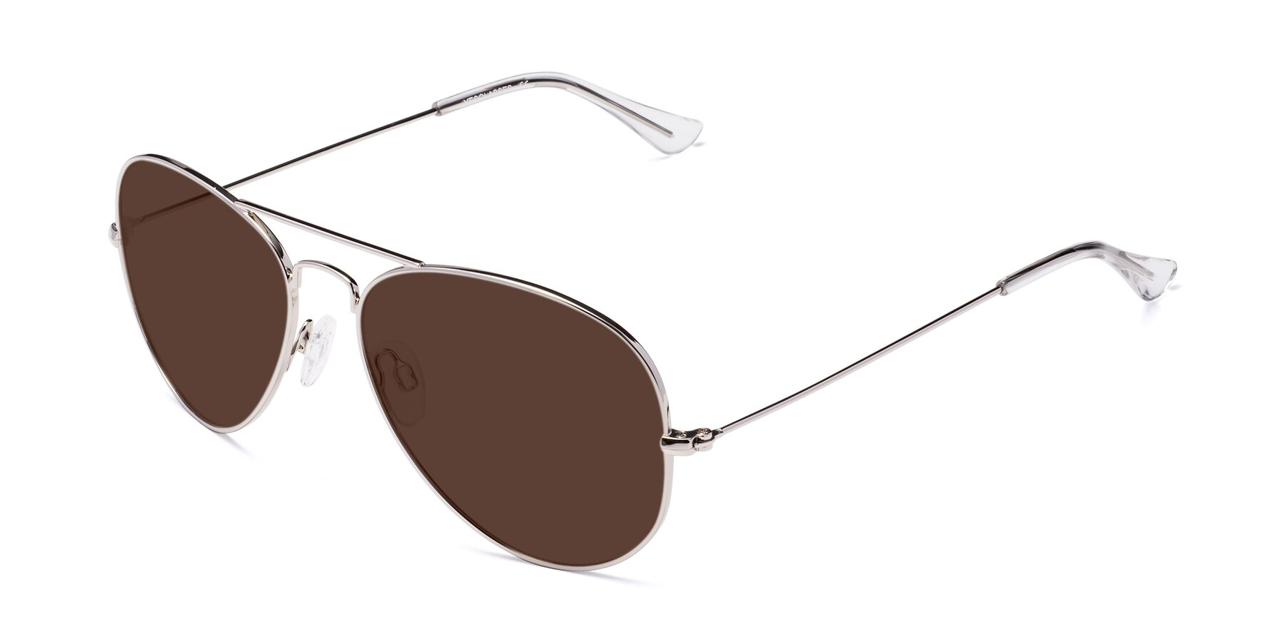 Angle of Yesterday in Silver with Brown Tinted Lenses
