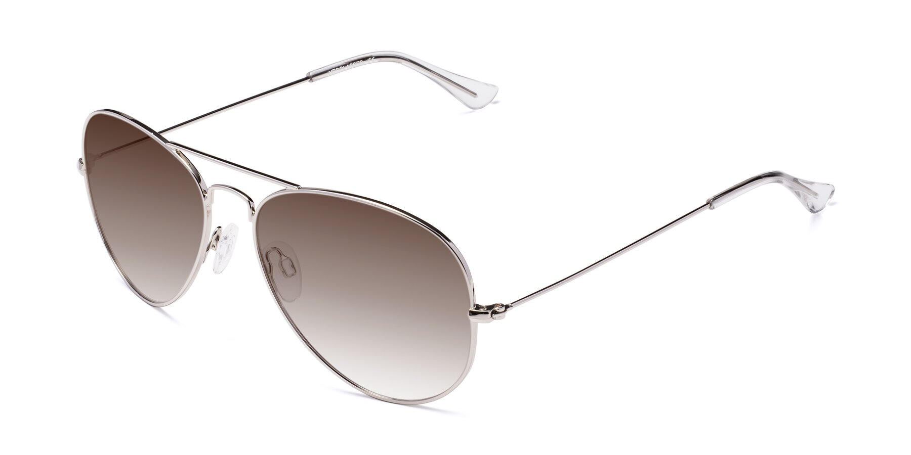 Angle of Yesterday in Silver with Brown Gradient Lenses