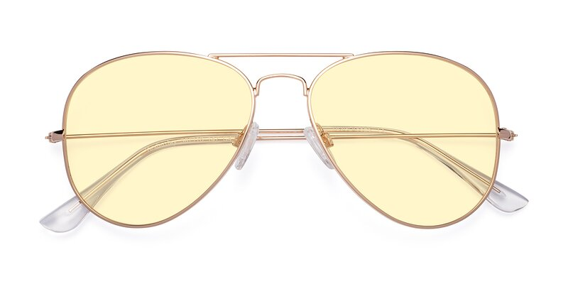 Yesterday - Shiny Gold Tinted Sunglasses