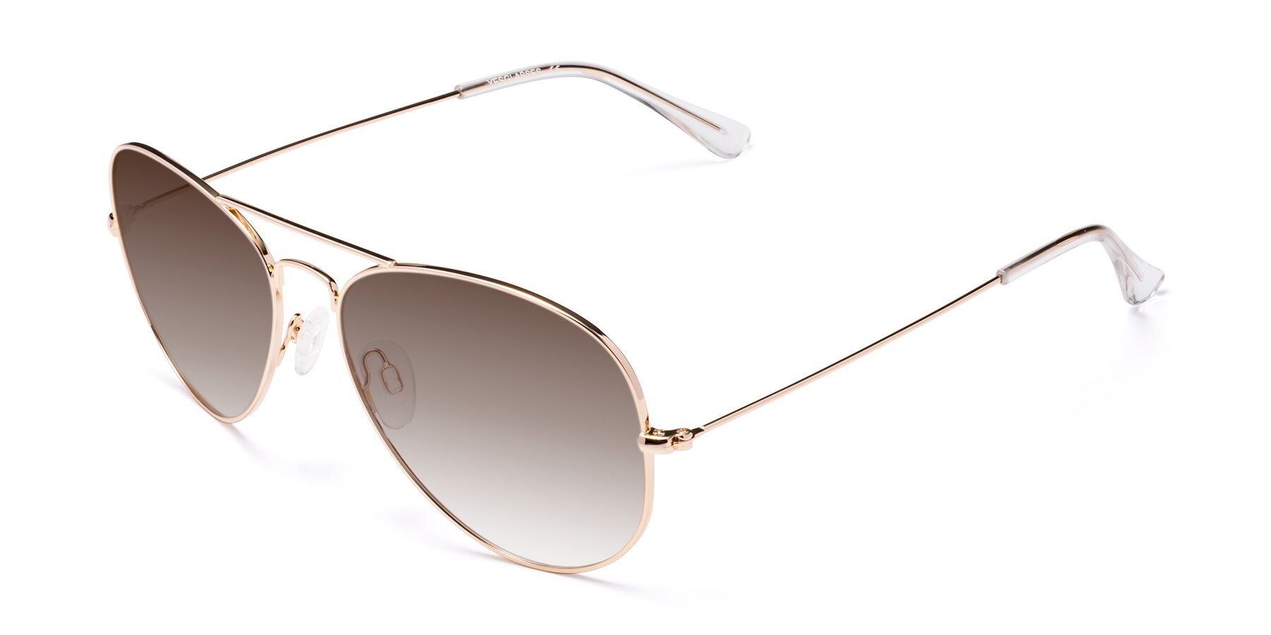 Angle of SSR035 in Shiny Gold with Brown Gradient Lenses