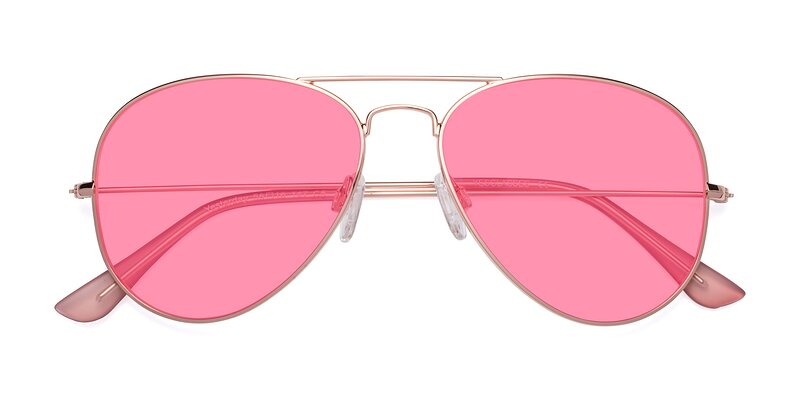 Yesterday - Rose Gold Tinted Sunglasses