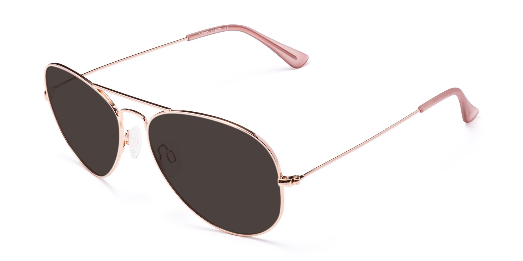 Angle of Yesterday in Rose Gold with Gray Tinted Lenses