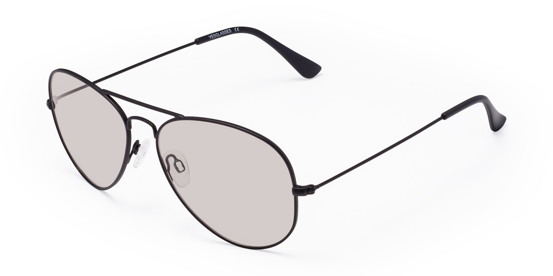 Angle of Yesterday in Black with Light Brown Tinted Lenses