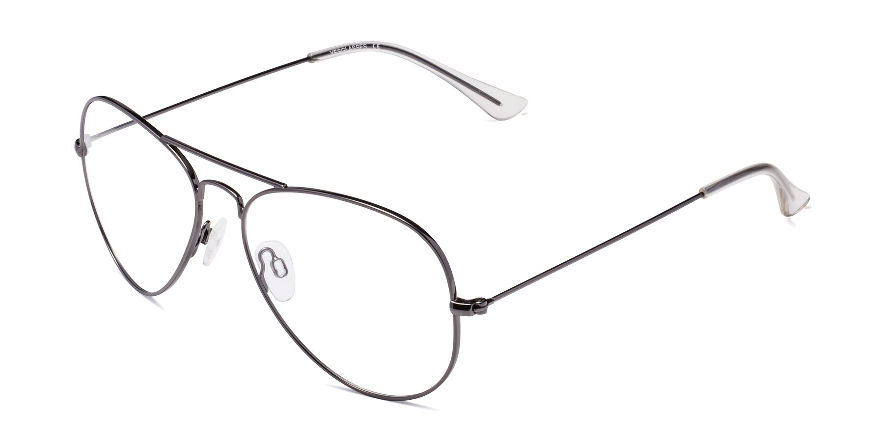 Angle of Yesterday in Gunmetal with Clear Eyeglass Lenses