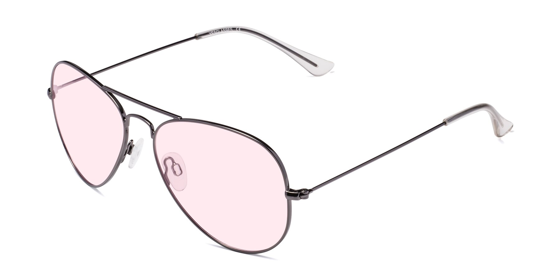 Angle of Yesterday in Gunmetal with Light Pink Tinted Lenses