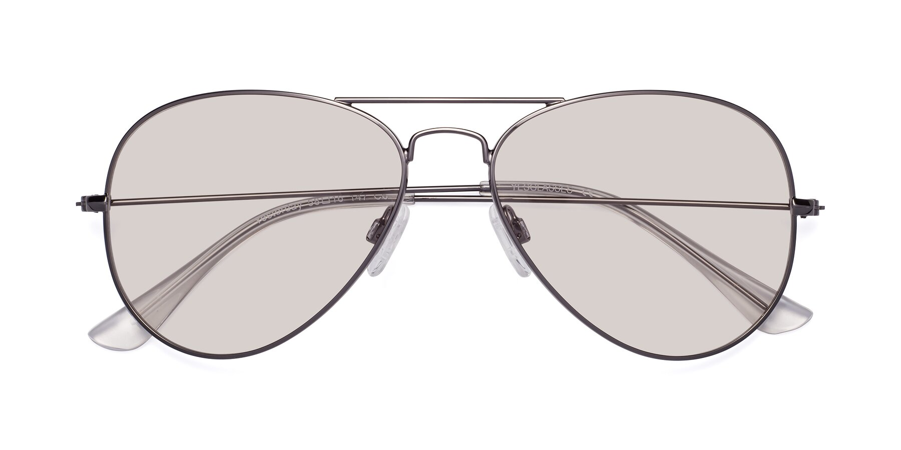 Folded Front of Yesterday in Gunmetal with Light Brown Tinted Lenses