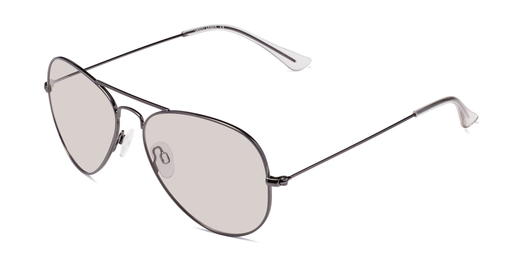 Angle of Yesterday in Gunmetal with Light Brown Tinted Lenses