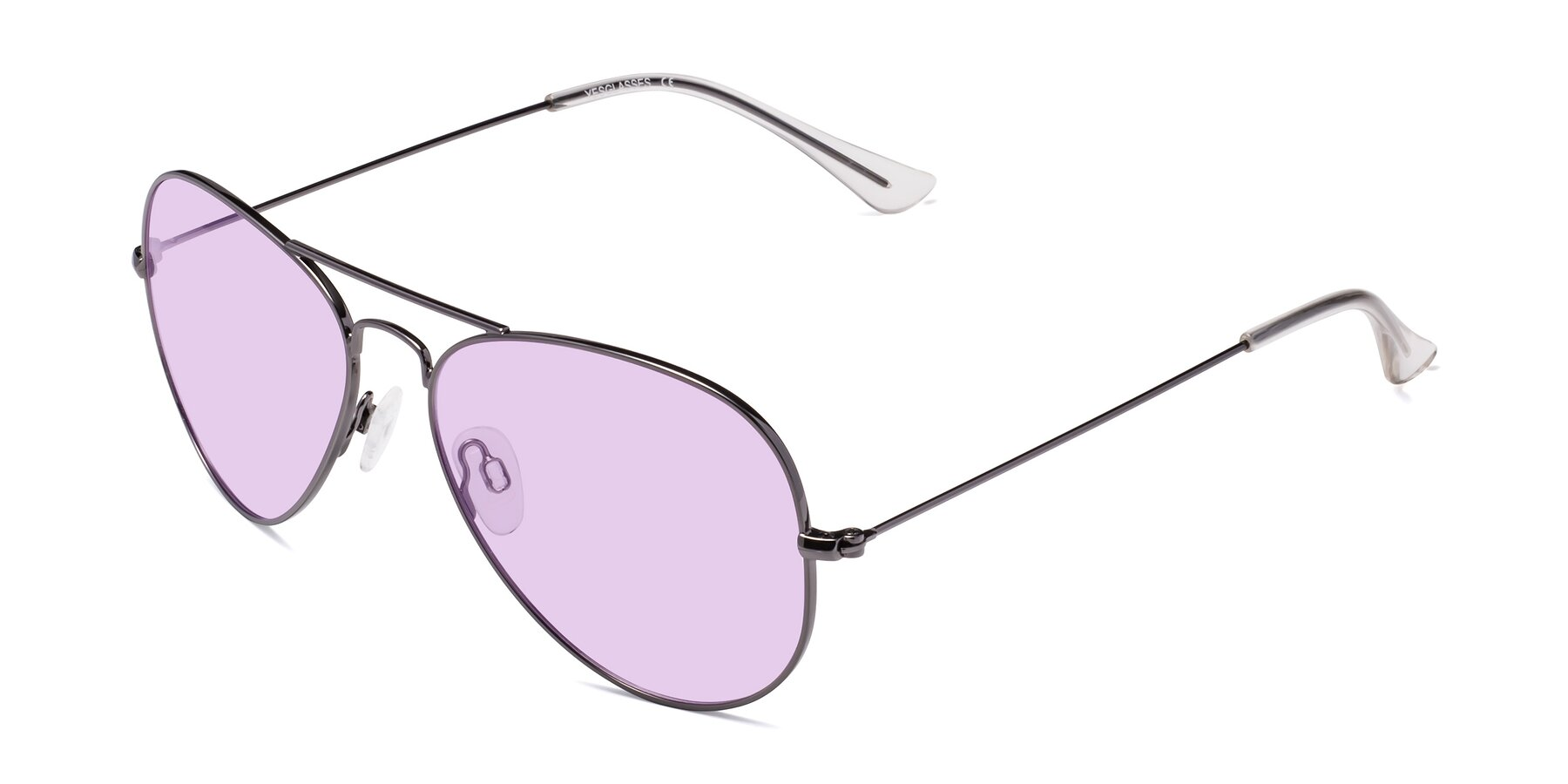 Angle of Yesterday in Gunmetal with Light Purple Tinted Lenses