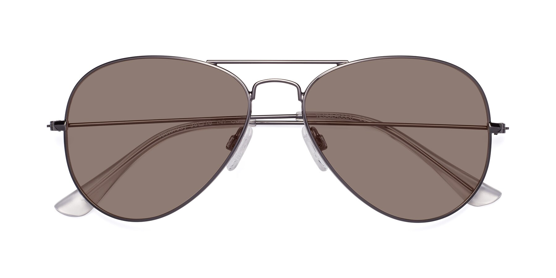 Folded Front of Yesterday in Gunmetal with Medium Brown Tinted Lenses