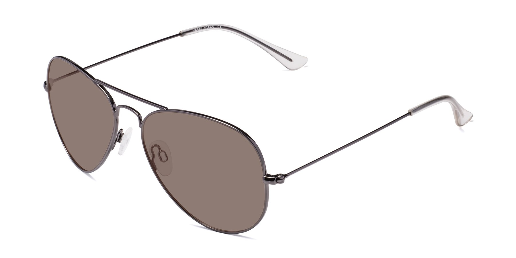 Angle of Yesterday in Gunmetal with Medium Brown Tinted Lenses