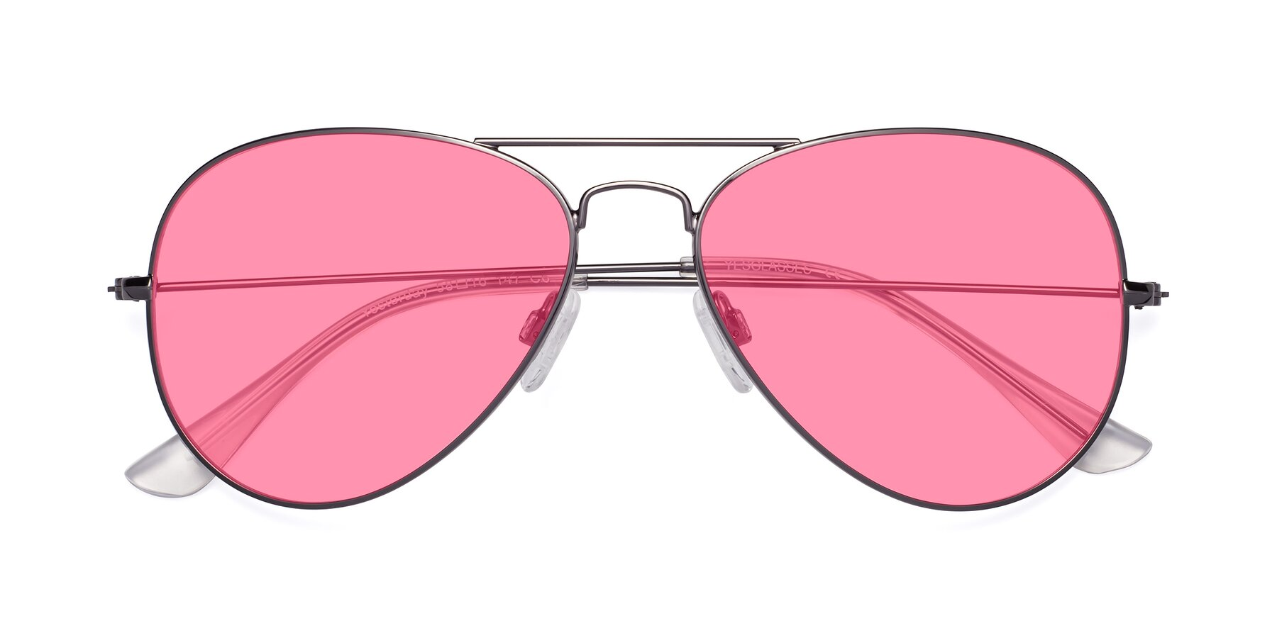 Folded Front of Yesterday in Gunmetal with Pink Tinted Lenses