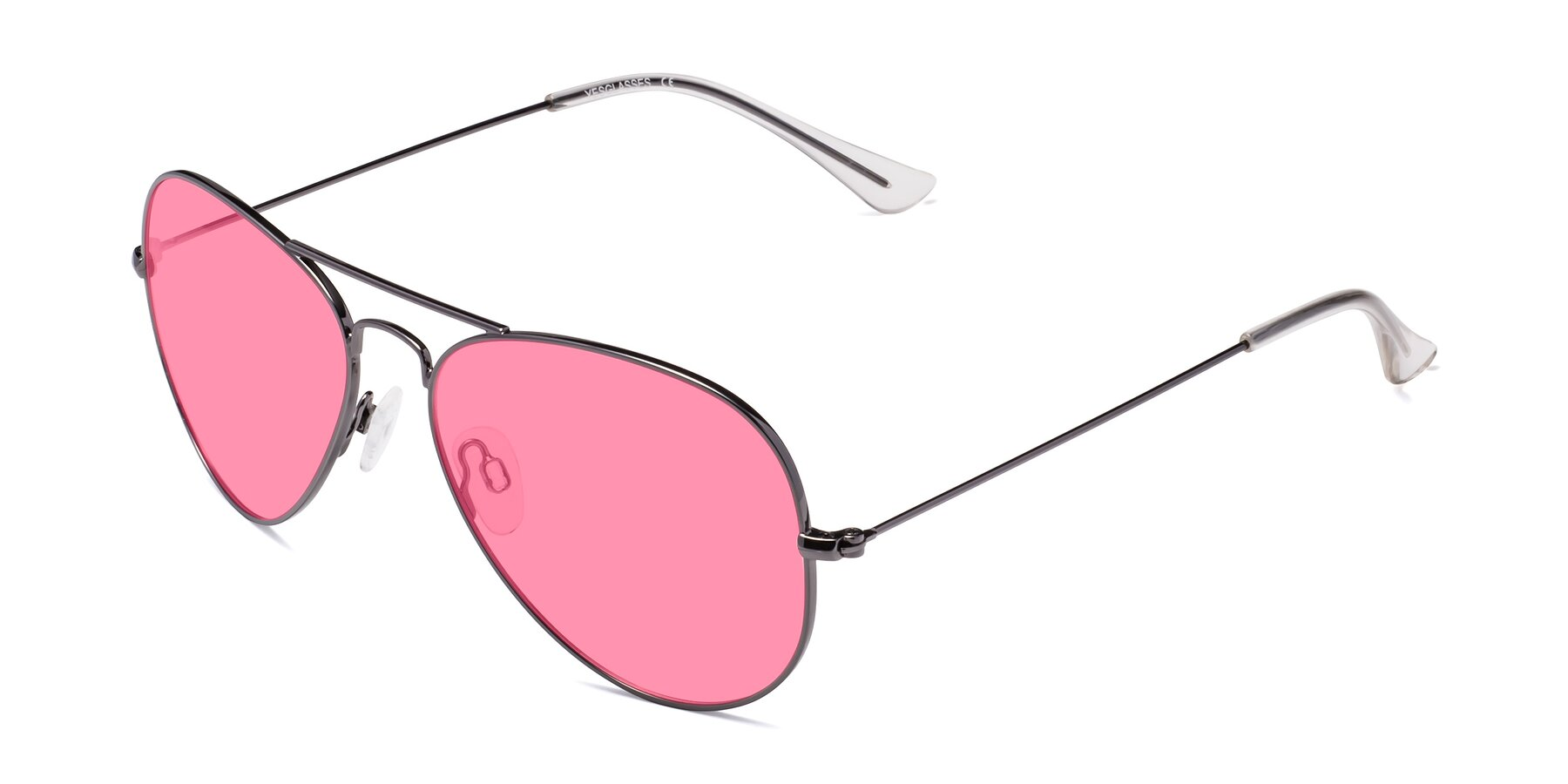 Angle of Yesterday in Gunmetal with Pink Tinted Lenses