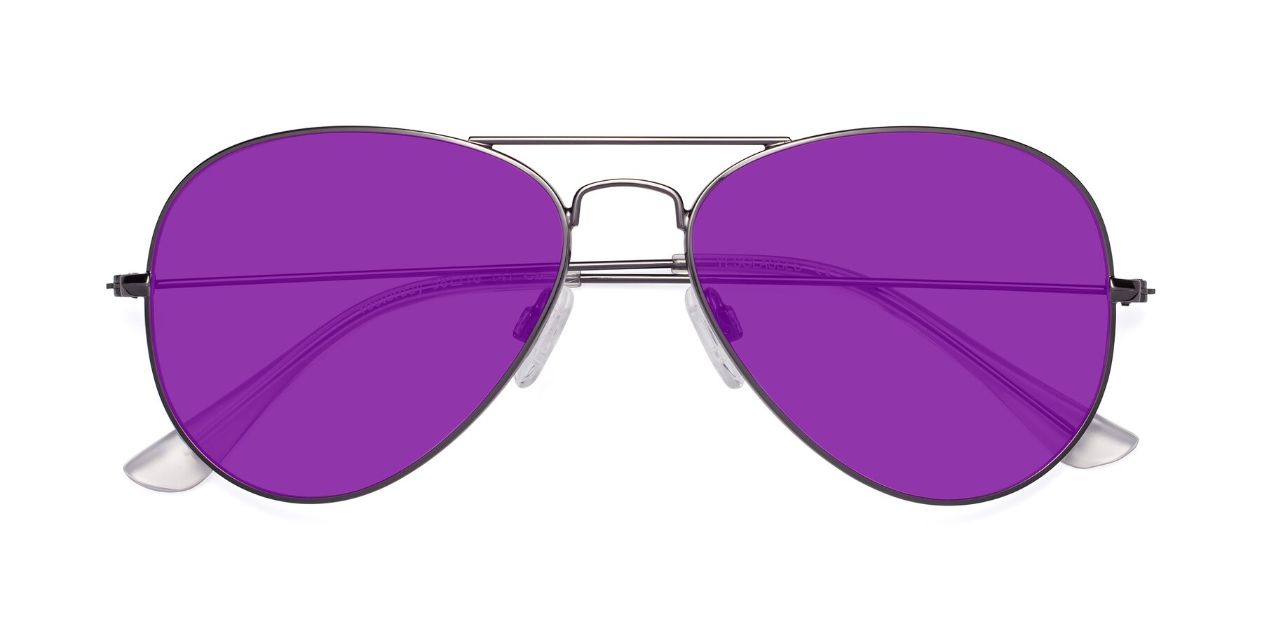 Folded Front of Yesterday in Gunmetal with Purple Tinted Lenses