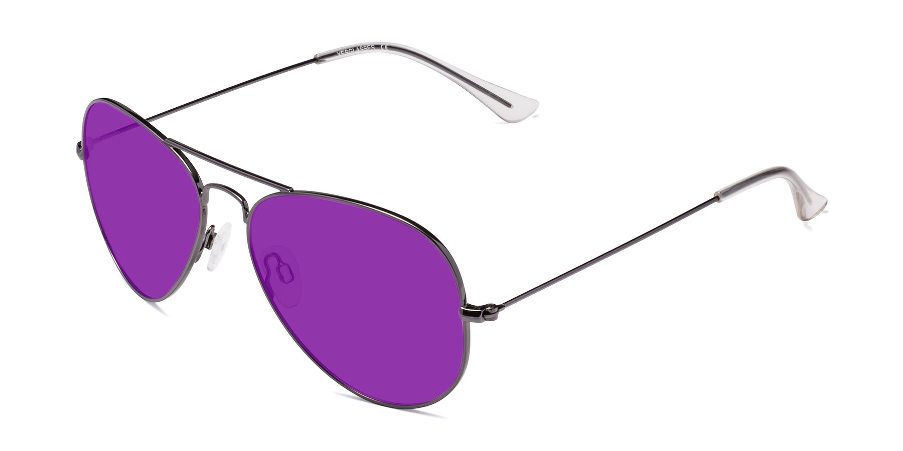 Angle of Yesterday in Gunmetal with Purple Tinted Lenses