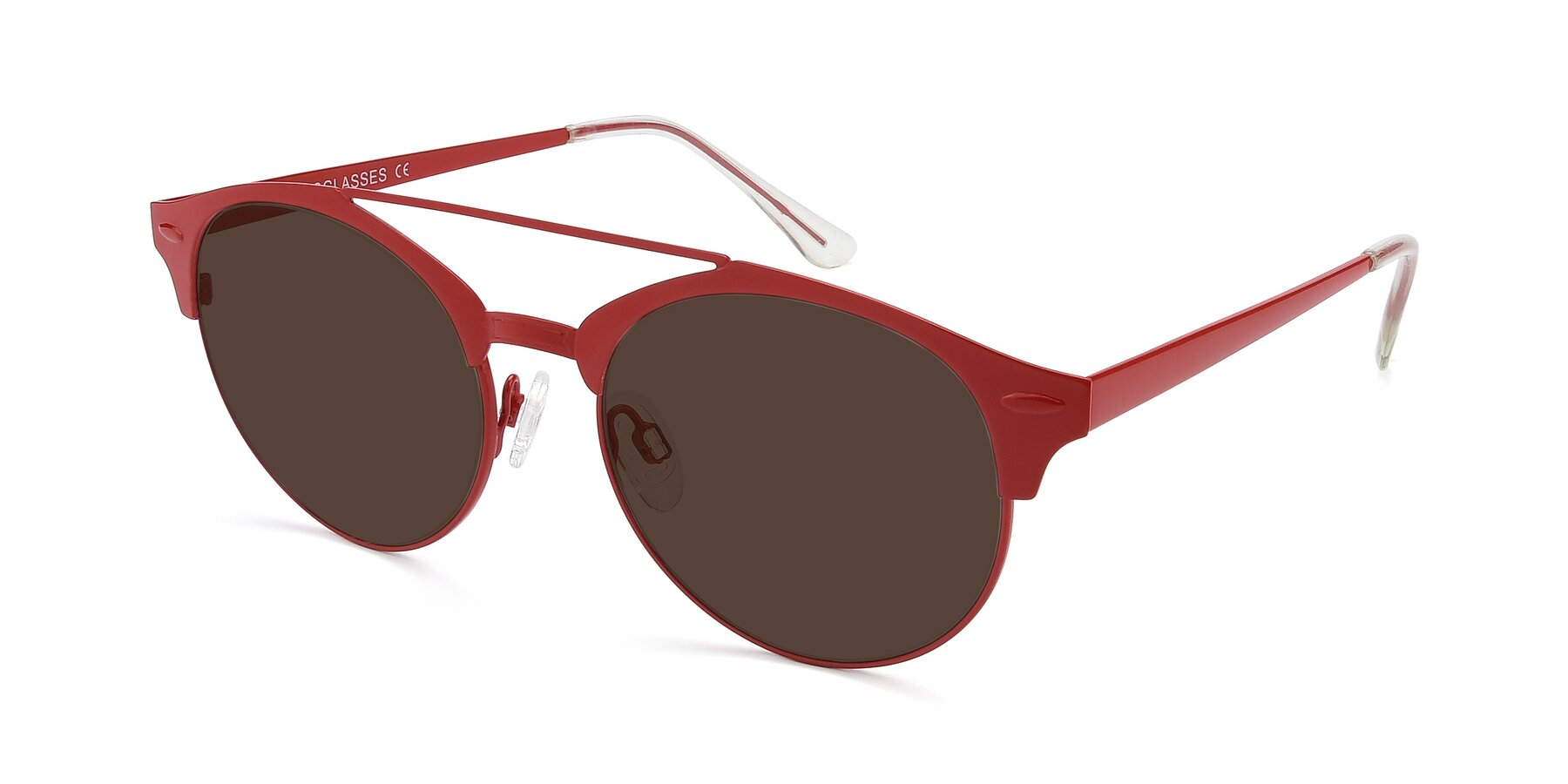 Angle of SSR183 in Red with Brown Tinted Lenses