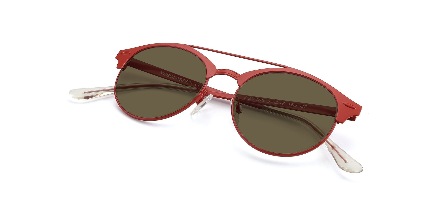 View of SSR183 in Red with Brown Polarized Lenses