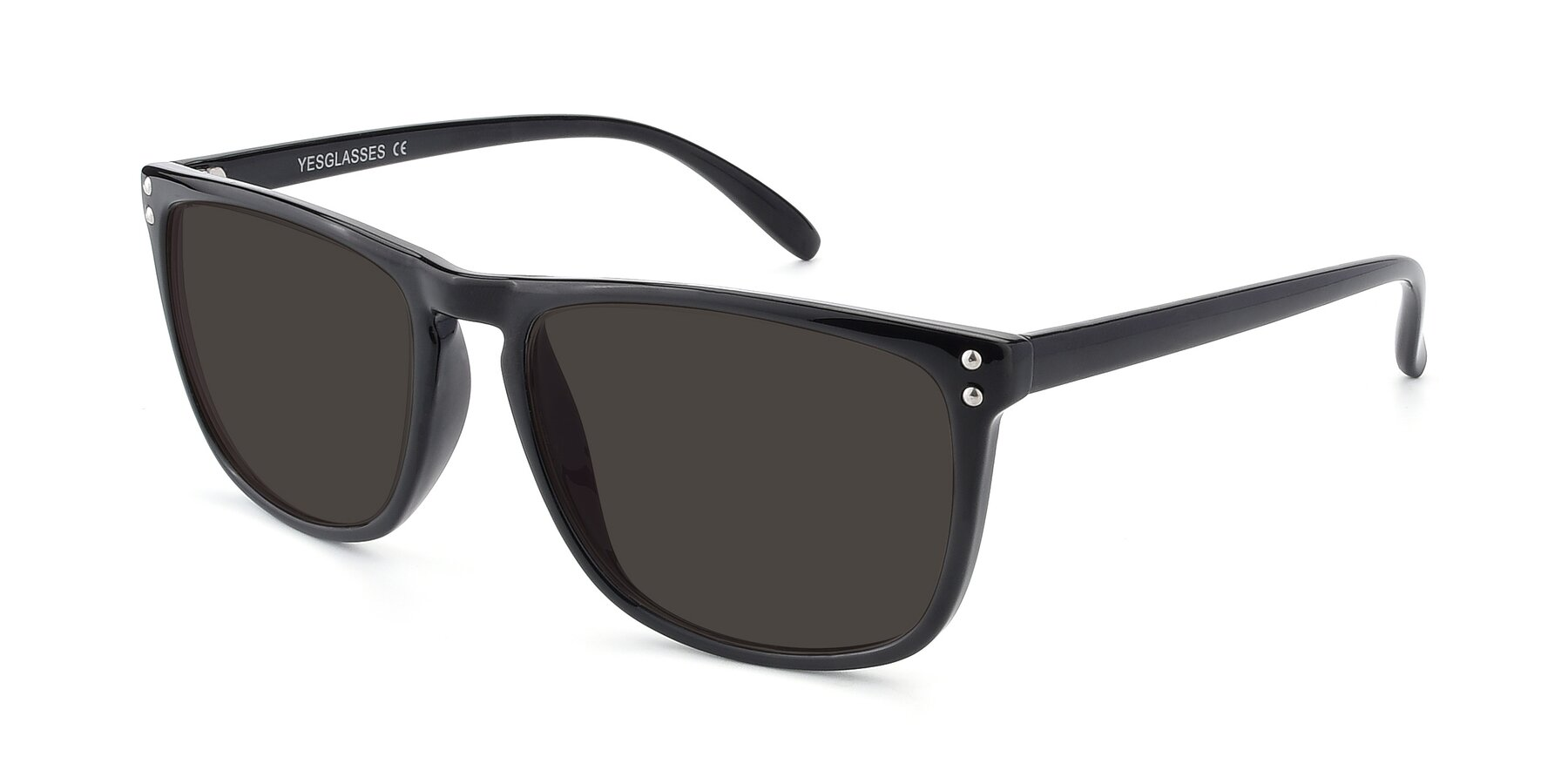Angle of SSR411 in Black with Gray Tinted Lenses