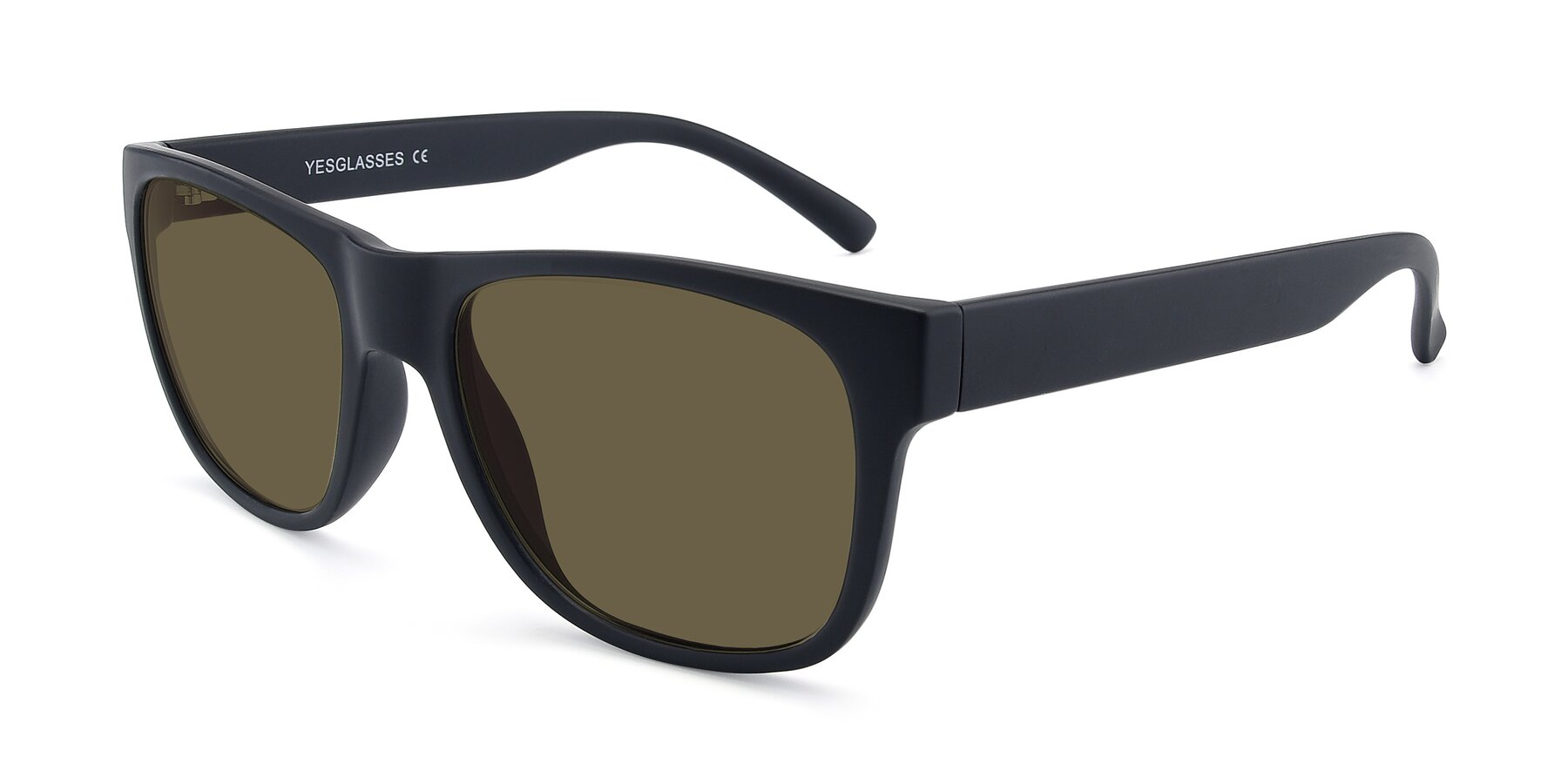 Angle of SSR213 in Matte Black with Brown Polarized Lenses