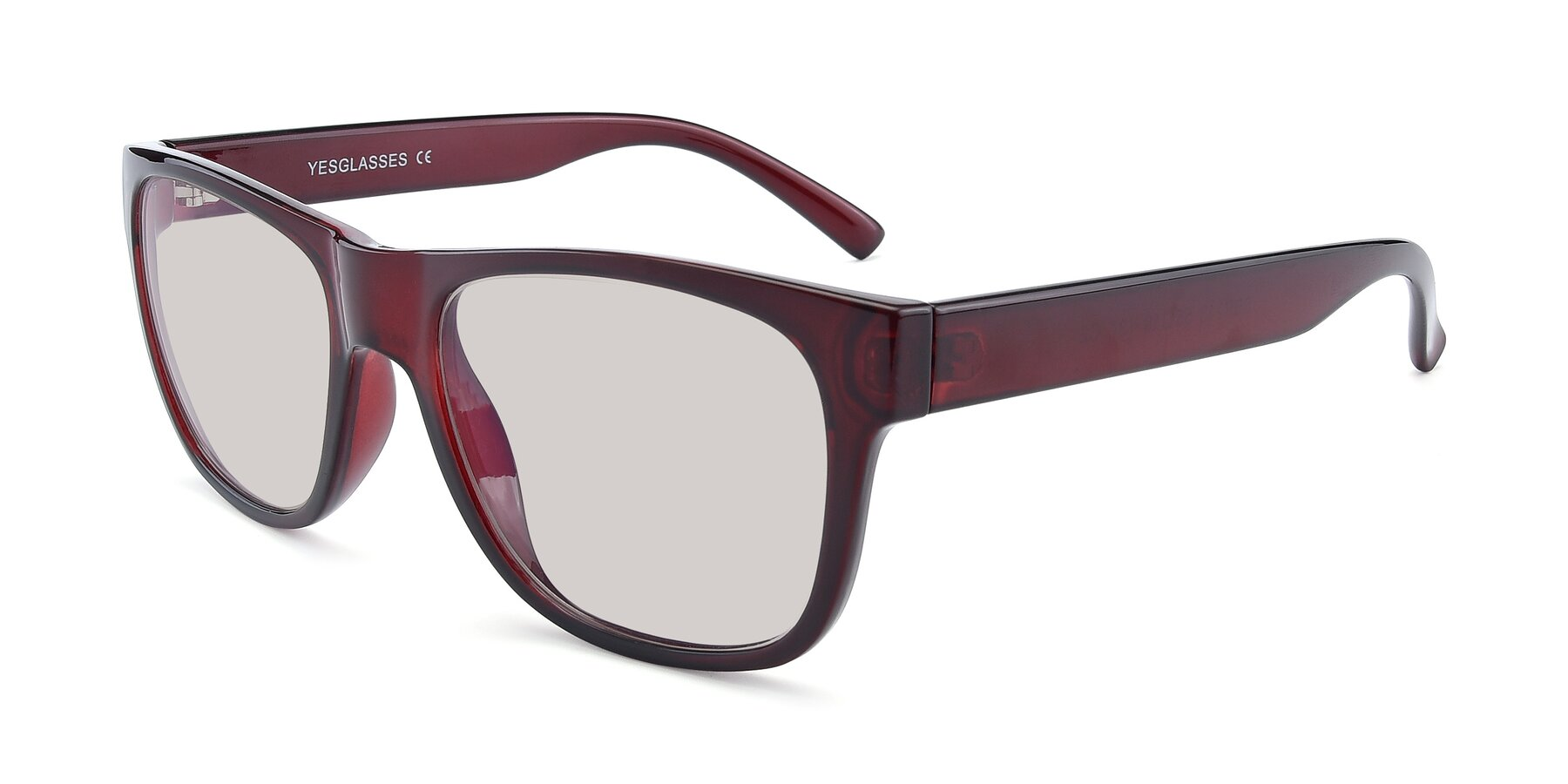 Angle of SSR213 in Wine with Light Brown Tinted Lenses