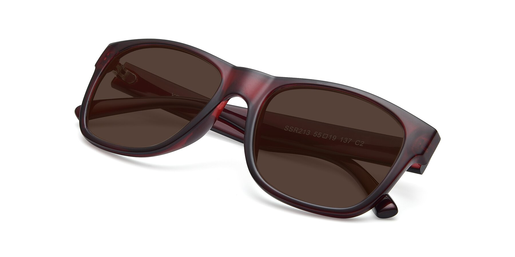 View of SSR213 in Wine with Brown Tinted Lenses