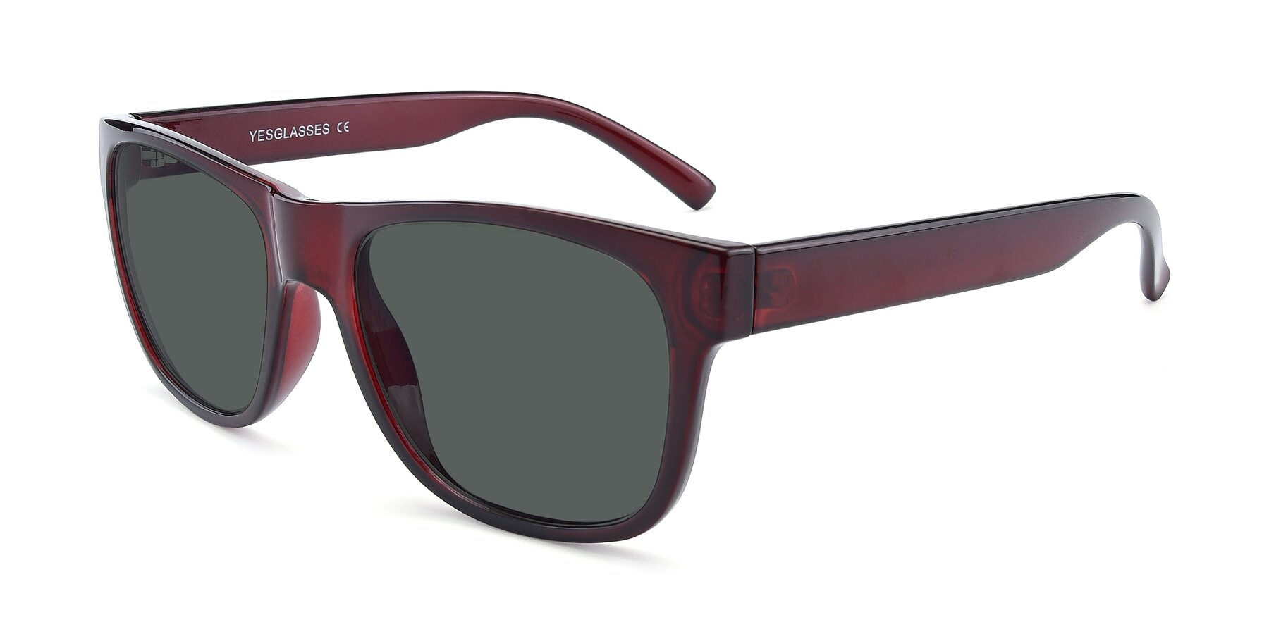 Angle of SSR213 in Wine with Gray Polarized Lenses
