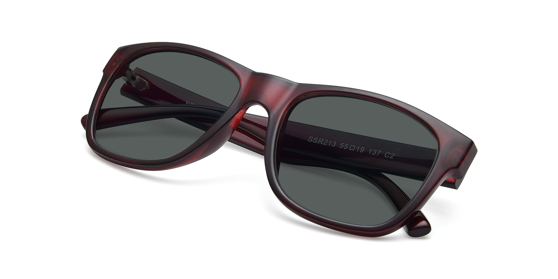View of SSR213 in Wine with Gray Polarized Lenses