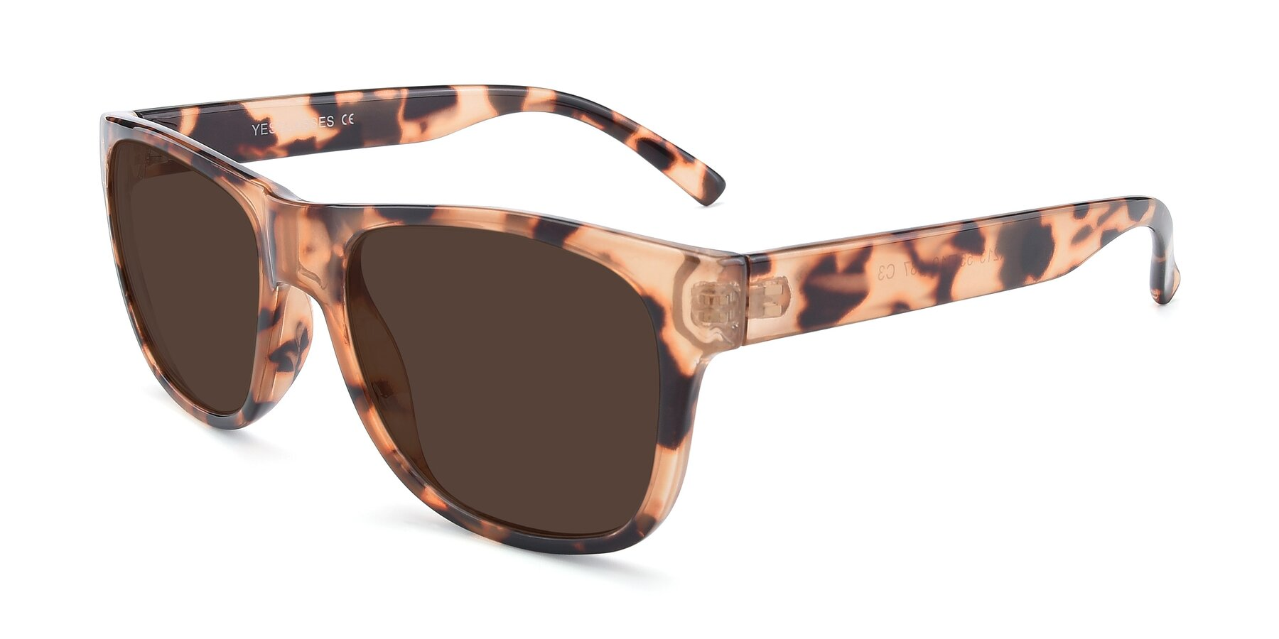 Angle of SSR213 in Translucent Tortoise with Brown Tinted Lenses