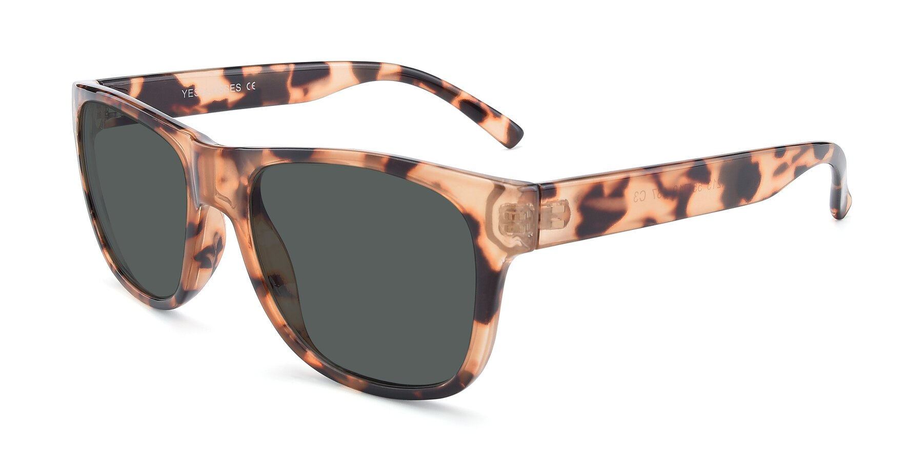 Angle of SSR213 in Translucent Tortoise with Gray Polarized Lenses