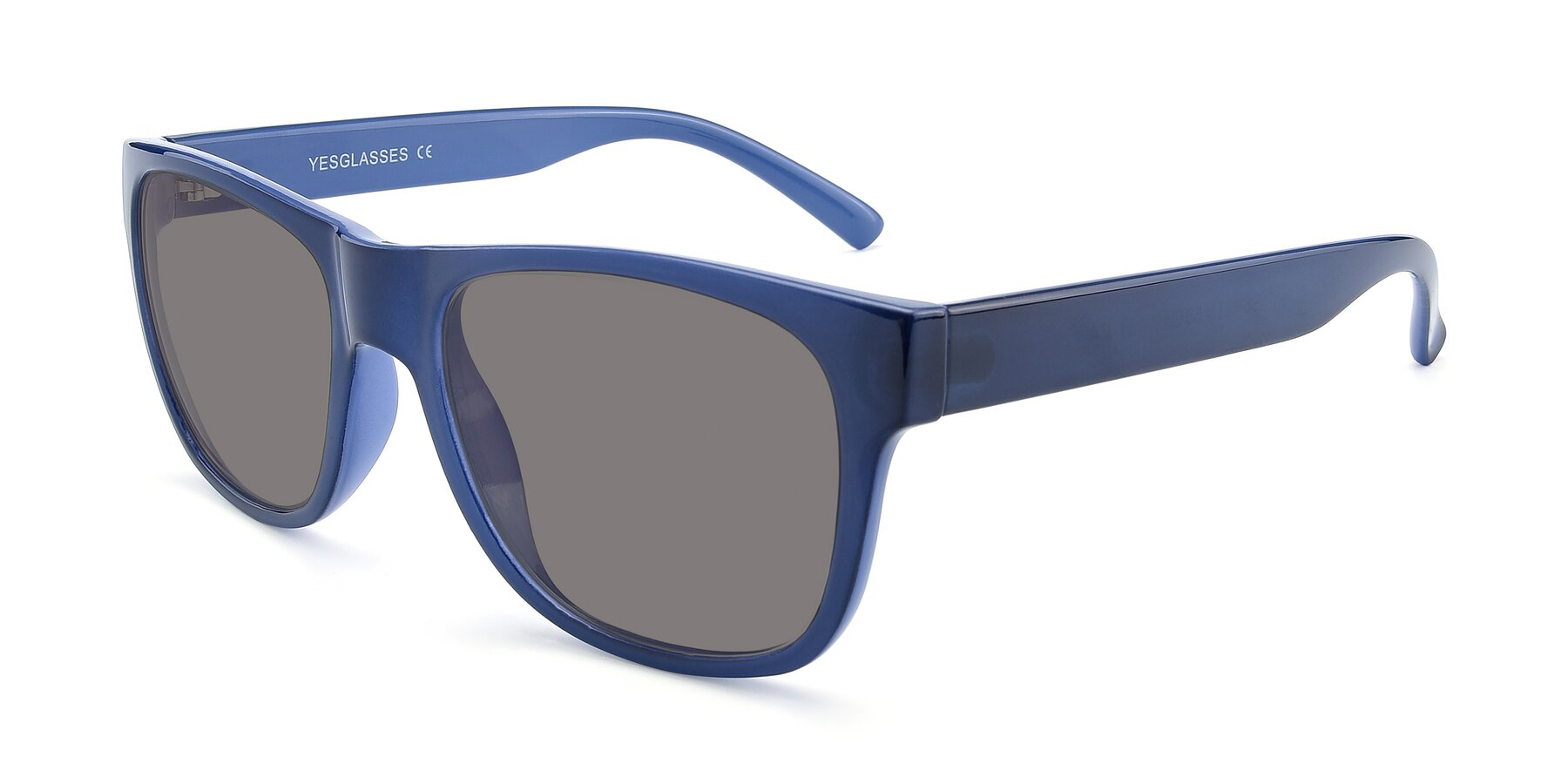 Angle of SSR213 in Blue with Medium Gray Tinted Lenses
